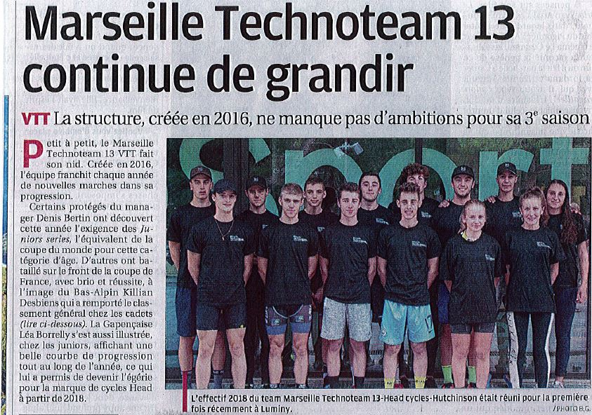 La Provence : «Marseille Technoteam 13 continue de s'agrandir»